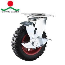 Самоустанавливающегося колеса для тяжелого режима работы, ролики с резиновым пресс-форму на чугун, роликового подшипника