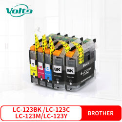 Compatível Brother LC123 Cartucho de tinta colorida para MFC-J4510DW J4410DW J4610 J4710DW J4110DW DCP-J132W J152W552J dw J752DW