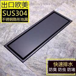 Scolo di pavimento largo 10cm di Concealled 6.8cm dell'inserto dell'acciaio inossidabile 304 degli accessori della stanza da bagno