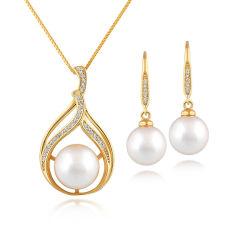 monili dell'oro giallo 9K con l'insieme della perla naturale