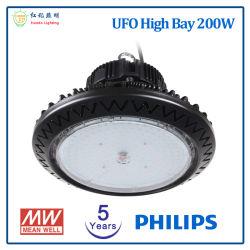 AC85-265V 200W UFO LED 산업용 하이 베이 조명(CE 포함 RoHS 승인