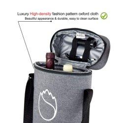 Изолированный водонепроницаемый поездки женская сумка 2 бутыли Cool выполните вино мешок охладителя