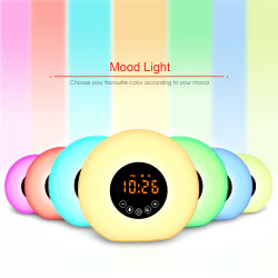 Reloj despertador con luz LED para los estudiantes y niños