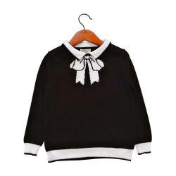 소녀 Bowknot 스웨터 가게 상단 아이들 봄 가을 스웨터 스웨터