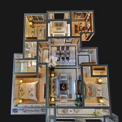 실내 스케일 모델 제작자 건축 디자인 스케일 모델 제작자