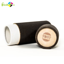 Verpakkende Vakje van de Cilinder van het Document van Kraftpapier van Eco het Vriendschappelijke voor Thee/Kruiden/het Vakje van het Document van de Cilinder van de Koffie