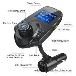 새로운 전송기는 USB 운반 충전기 지원 TF 카드를 가진 T10 차 장비 Bluetooth MP3 선수 FM 도착한다
