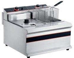 Tablero 14L LPG de chips de patata maquina freidora comercial cestas de 2-Electricidad Gas Abrir Freidora