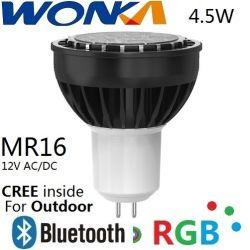CREE LED RGB MR16 Pleins feux sur le contrôle de rattrapage avec Bluetooth