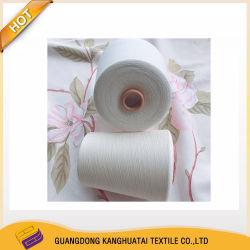 Cotone compatto 100% del cotone 60s dell'Australia che lavora a maglia bianco grezzo di tessitura filato del filato grigio del poliestere