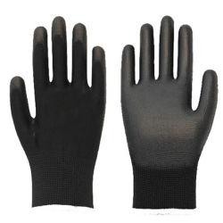 Pt388 4131 13G Nylon/ Camisa de poliéster com revestimento de PU poliuretano luvas de trabalho de proteção