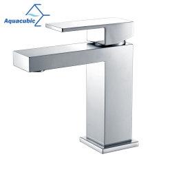 Aquacubic zeitgenössischer Wasser-Einsparungupc-Chrom-Toilette-Badezimmer-Bassin-Hahn