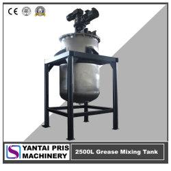 2500L de acero inoxidable doble forma la mezcla de reactores de mezcla de grasa de litio