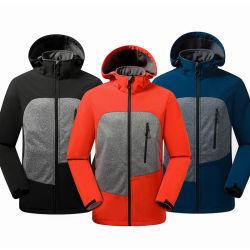 Bloc de couleur d'hommes Fleece veste de chemise de vêtements de travail de plein air Sportswear