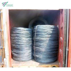 Kohlenstoffstahl der Qualitäts-SAE 1008 SAE1006 kohlenstoffarmer warm gewalzter milder Durchmesser-6.5mm in RingWalzdraht