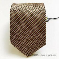 100 % polyester grille rayé de petits hommes d'entreprise de conception Neck Tie