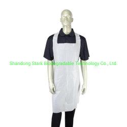 Avental de plástico biodegradável, avental de cozinha, avental de plástico descartáveis