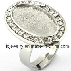 DIYの宝石類の作成のための個人化された宝石類の半終了するリングベース