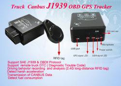 Newest chariot 2.4G OBD Tracker GPS avec la technologie RFID sans fil détecte antidémarrage Canbus protocole J1939 TK228-ez