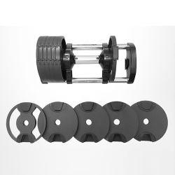 熱いホームスポーツの体操の適性装置の鉄のゴム製十六進ダンベルは調節可能なダンベルをセットした