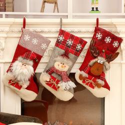 고품질 크리스마스는 선물 사탕 거는 부대 주문 가정 훈장 크리스마스 스타킹을 친다