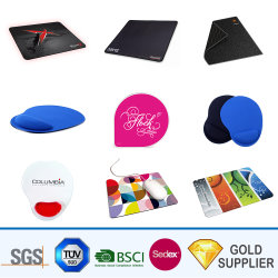 Wholesale Custom Design Printed Sublimation Mouse Pad PVC Gummibasis Polyesterstoff Mousepad Roll Silicon Gel Handgelenkauflage Wasser Waschen Microfiber Mouse Mat