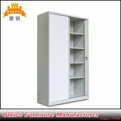 2 Tambour porta mobili da ufficio serratura stoccaggio armadio bianco