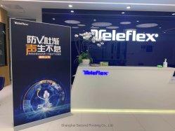 Customized publicidade exterior Promoção acrílico PVC suporte de papelão arregaçar Folha de suporte de ecrã