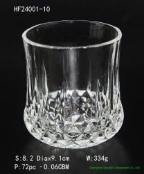 Pulsa secadora grabado Highball cerveza, vino de la copa de cristal para beber whisky