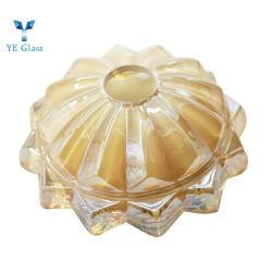 Lampe de cristal verre décoratif cache feu lustre en verre en cristal abat-jour