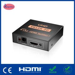 4K de alta velocidad*2K 2 Puerto HDMI V1.4 Splitter 1X2 Full HD 3D