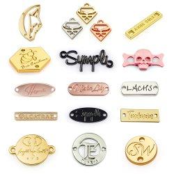 Bolsa de cuero personalizada en el bolso de Oro de la planta de tela metálica etiquetas adhesivas Etiquetas de ropa de marca de la placa de la etiqueta con Logo