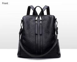Leer van de Koe van het Patroon van de Krokodil van de Handtassen van de Handtassen van de best-seller het Artisanale Dame Backpack Branded Handbag From China