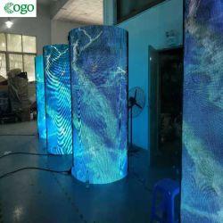 P1.875 P2 P2.5 P3 P4 창조적인 실린더 발광 다이오드 표시 유연한 연약한 LED 스크린 모듈 광고