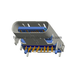 맞춤형 14핀 USB3.1 Type C 암 인두기 플러그 커넥터 SMT 유형(PCB 보드 포함