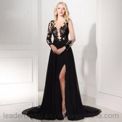 Chiffon Bridesmaids vestidos de Festa Negra formal Vestidos Dresses à noite Ld152