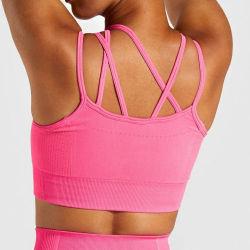 Новейший стиль сшитых спортивная одежда Удобный спортивный бюстгальтер