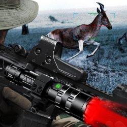 Torcia rossa verde tattica impermeabile della torcia elettrica di bianco LED 18650 di caccia 1600lumen di notte di L2 Flashligh