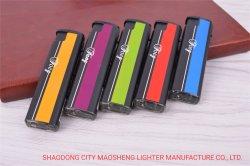 Isqueiros 8,0 cm Wind-Proof plástico eletrônico leve cor sólida