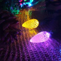 C6 Diamond Strawberry 100L لون صغير إضاءة حفل عيد الميلاد مصباح LED الخاص بالحيوانات الأليفة