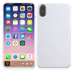 Blank 3D Subimation PET Printing White Color for iPhone X(iPhone X용 흑백 컬러 최대 휴대폰 케이스