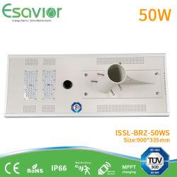 TUV integreerden de ISO- Certificaten 5W-200W Slim allen in Één LEIDENE ZonneStraatlantaarn met Iot voor de Openlucht Zonne van de overheidsWeg Projecten van de leiden- Verlichting