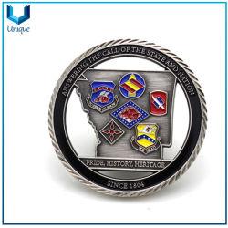 Metal Crafts Fabricant pour Défi Coin, Antique Silvr découpe 3D'émail pompier maçonnique Marine Armée Prix Médaille militaire Coin