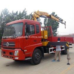 Dongfeng camion del carico della gru dell'asta montato camion dell'autogru da 6.3 tonnellate con la gru da vendere