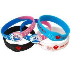 Prix le Plus Bas Deboss Logo Personnalisé Bracelet en Silicone pour la Promotion Avtivity (WB23-B)