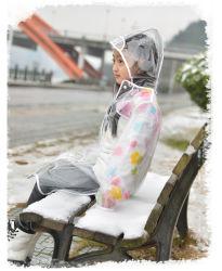Clear Waterproof Cute Children 카툰 레인코트 주니어코트와 우산 세트 걸즈