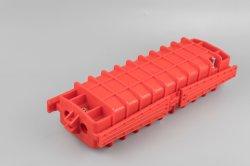 옥외 Fsc 48 96 코어 수평한 광섬유 합동 마감 결합 Closure2 인레트 2 출구 빨간 Madidi 유형