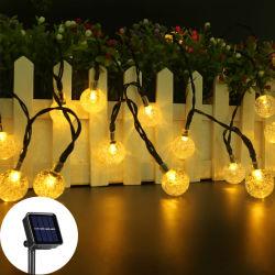 Amazônia Venda quente alimentada a energia solar Festival String decorativas de plástico de iluminação das lâmpadas de LED à prova de decoração de jardim String LED Light Árvore de Natal de seqüência de luzes