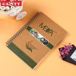 دفتر يوميات مذكرة مطبوع على ورق لوحة الملاحظات الحلزونية الخاصة بمكتب الترويج