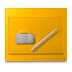 Coffre-fort de la farine de tapis de cuisson en silicone Non-Stick Rolling barème MAT avec l'axe de roulement et le racloir défini
